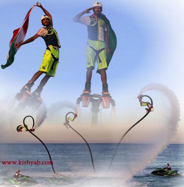 ورزش هیجانانگیز فلای بورد در کیش /تصاویر