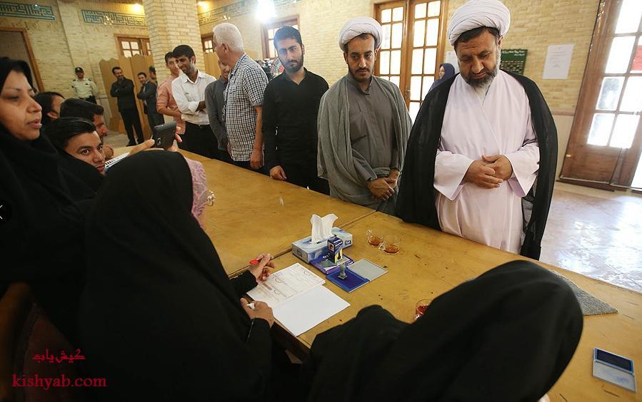 مرحله دوم انتخابات مجلس در جزیره کیش /تصاویر