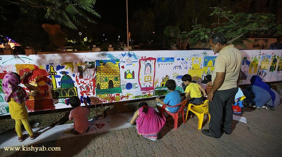 برپائی پیاده راه هنر در جزیره کیش /تصاویر