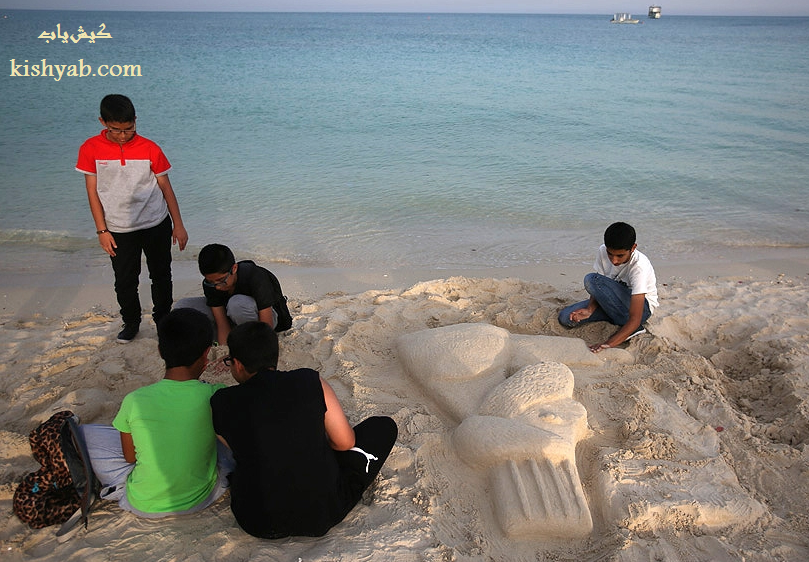مسابقه ساخت مجسمههای شنی در کیش /تصاویر