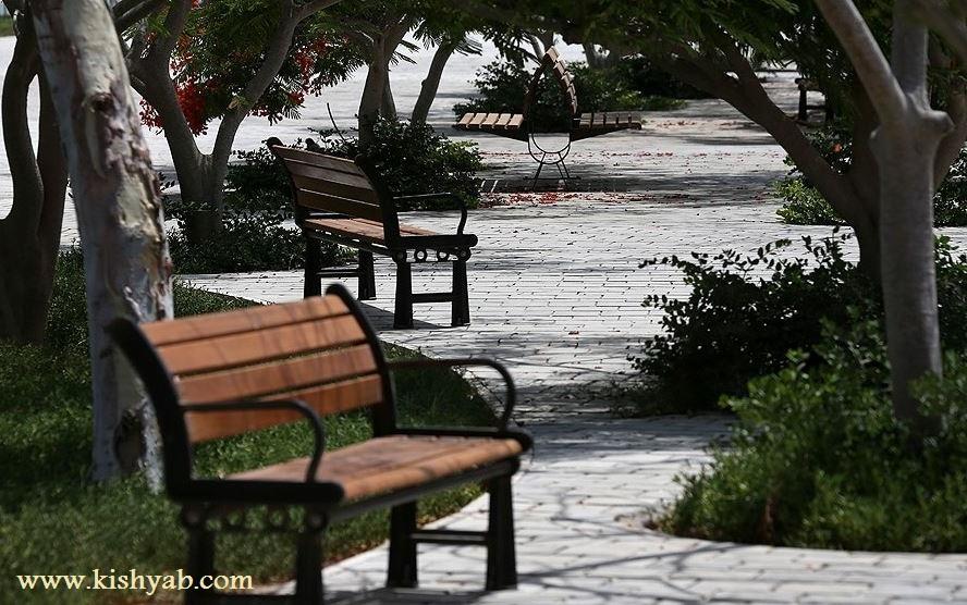 تصاویر دیدنی از باغ راه ایرانی در کیش