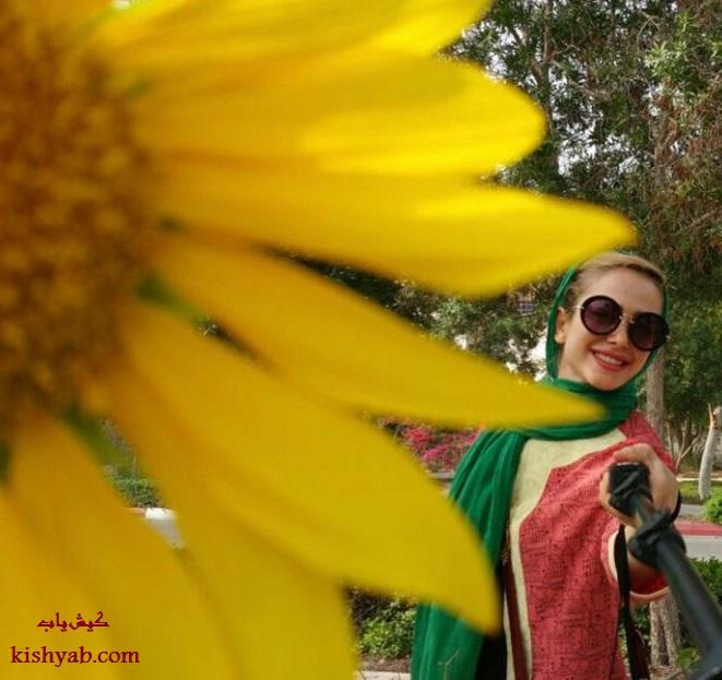 عکس زیبای الناز حبیبی در جزیره کیش
