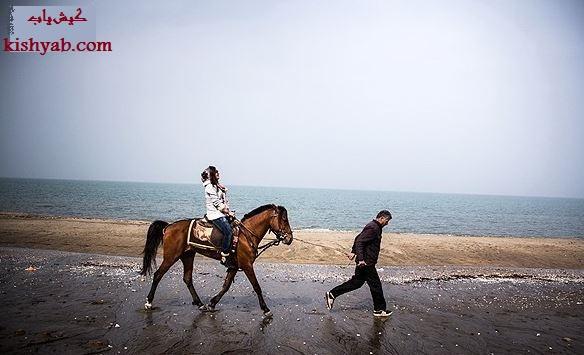 تصاویر زیبای اسب سواری در کیش