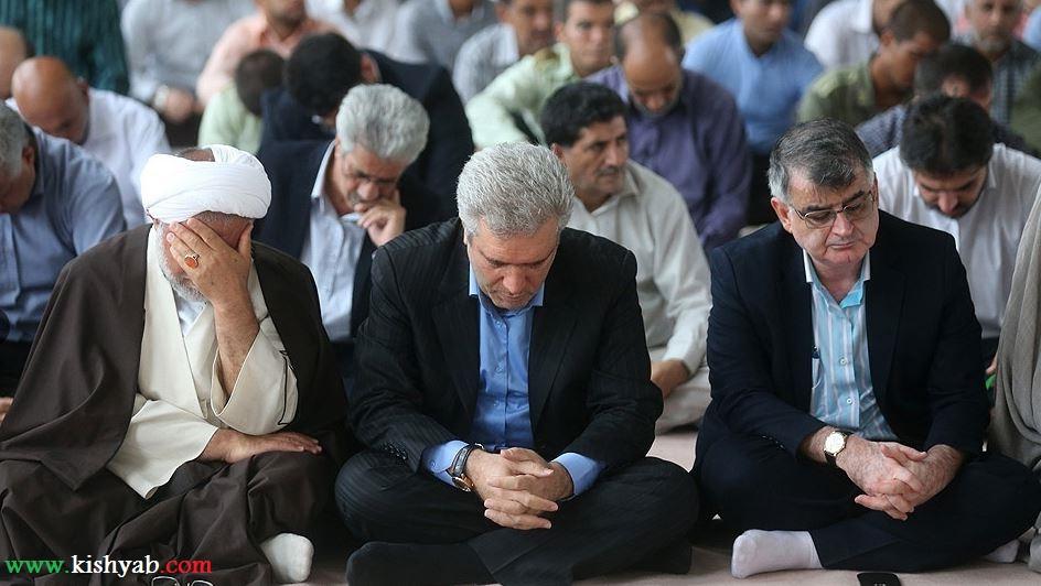تصاویری از برگزاری نماز پرفضیلت جمعه در کیش