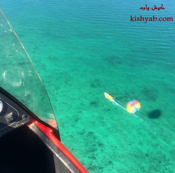 تصاویر دیدنی چتر پاراسل در جزیره کیش