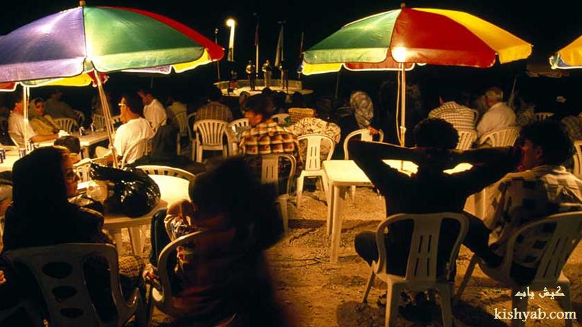 تفریحات شبانه در ساحل کیش