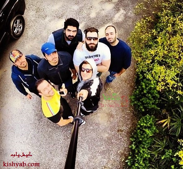 تصاویر محمدرضا گلزار در جزیره کیش