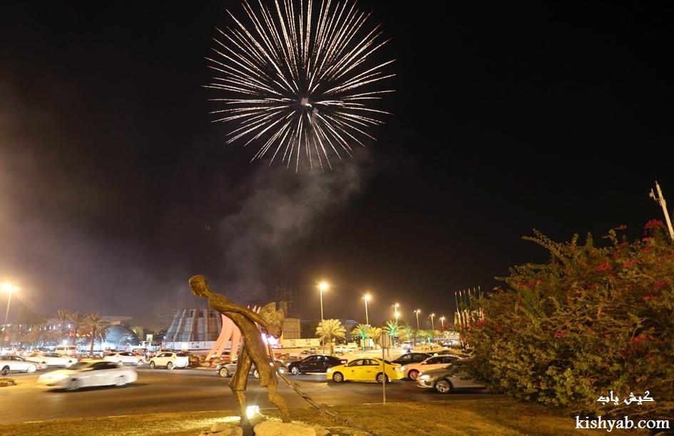 برگزاری نورافشانی درنوزدهمین جشنواره تابستانی کیش /تصاویر