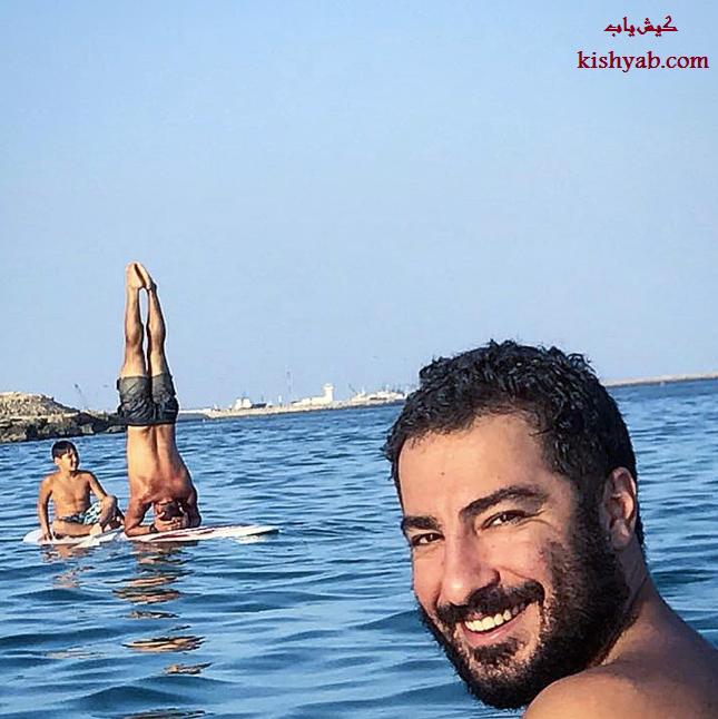 عکس جالب و دیدنی نوید محمدزاده در جزیره کیش