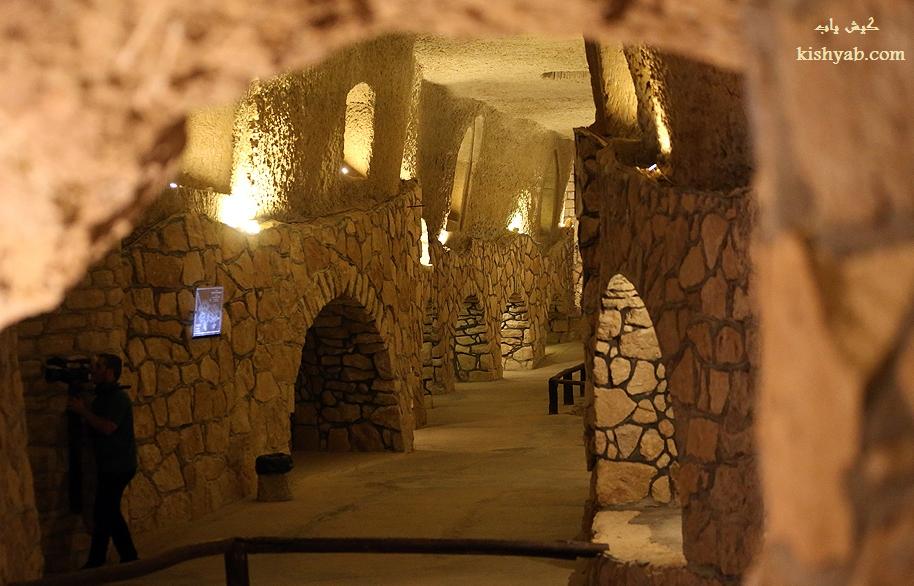 تصاویری جدید از شهر زیر زمینی کاریز در جزیره کیش