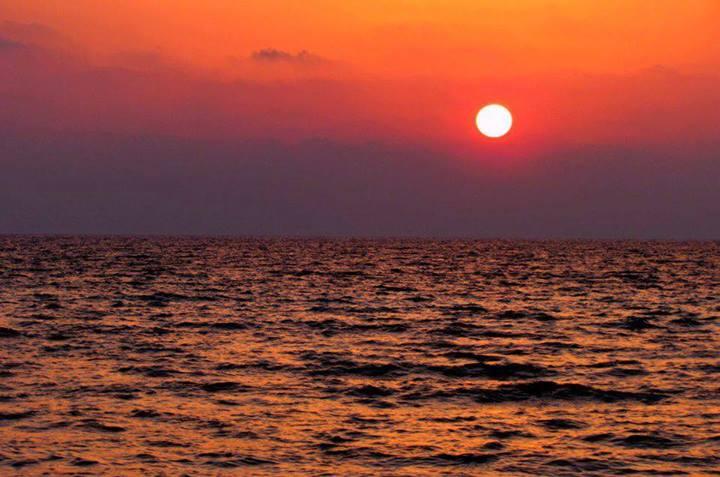 متن غروب ساحل دریا عکس کیش - کیش یاب