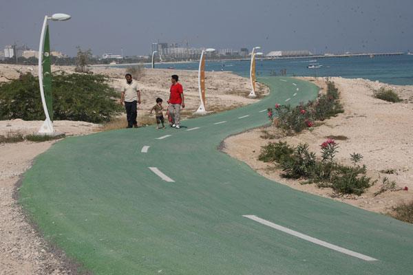 طولانی ترین پیست دوچرخه سواری در سواحل کیش